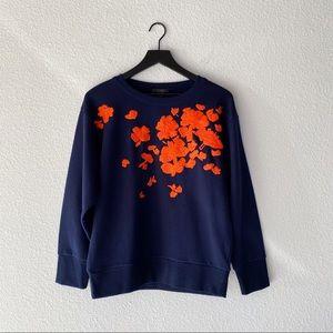 ▪️J. Crew▪️embroidered floral sweatshirt
